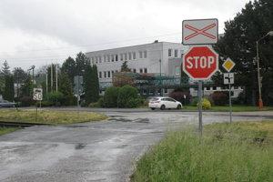 Pasívne priecestie v Prievidzi, kde sa stala nehoda.