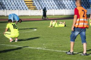Hráči Žiliny po poslednom ligovom zápase tejto sezóny.