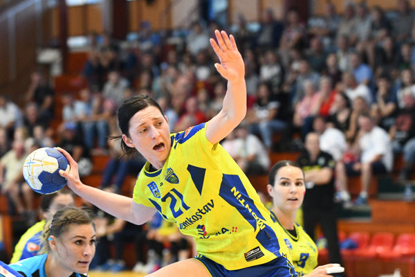 Patrícia Wollingerová z Iuventy Michalovce počas posledného finálového zápasu.