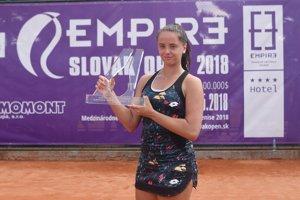 Viktória Kužmová zvíťazila na turnaji v Trnave.