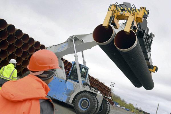 Výstavba plynovodu Nord Stream 2.
