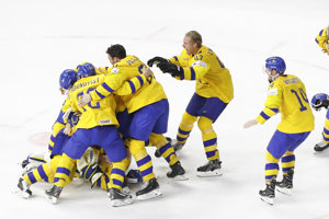 Švédski hokejisti (ilustračná fotografia).