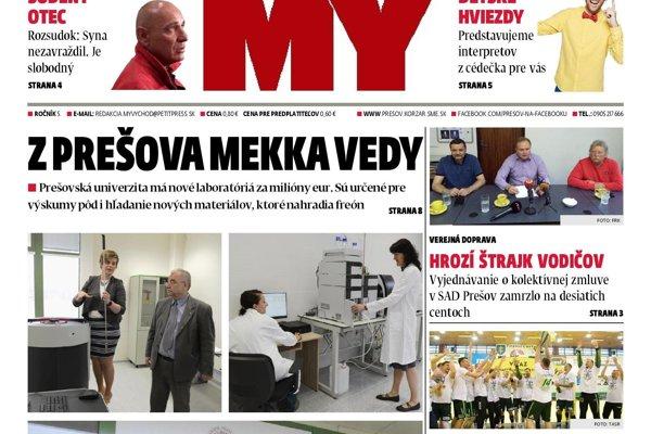 Nové číslo Prešovských novín.
