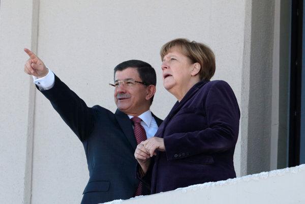 Turecký prezident prijal kancelárku Merkelovú.