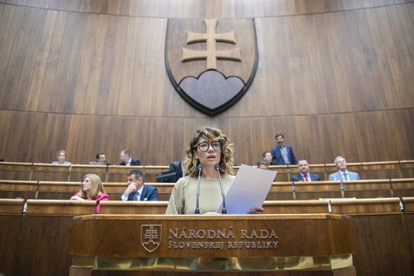 Podpredsedníčka NRSR Lucia Ďuriš-Nicholsonová (SaS).