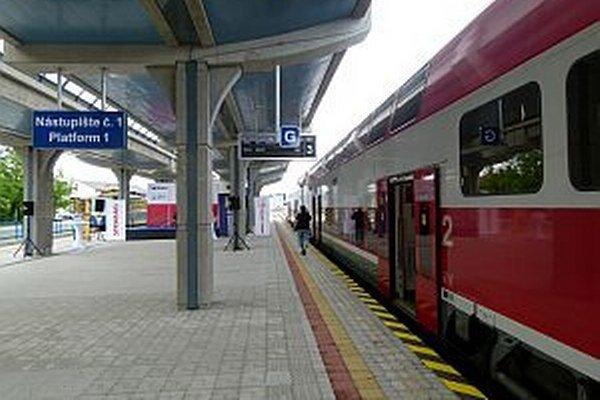 Vynovená stanica v Trenčianskej Teplej.