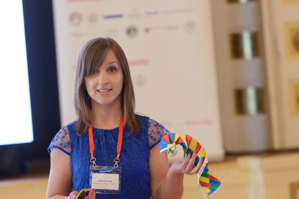 Lucia Lauková z Univerzity Komenského v Bratislave zvíťazila s témou o tom, ako mimobunková DNA môže pomôcť pri liečbe sepsy.