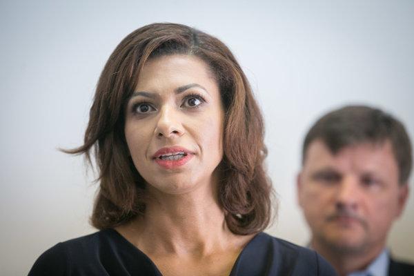 Kandidátka na primátorku Bratislavy Caroline Líšková.