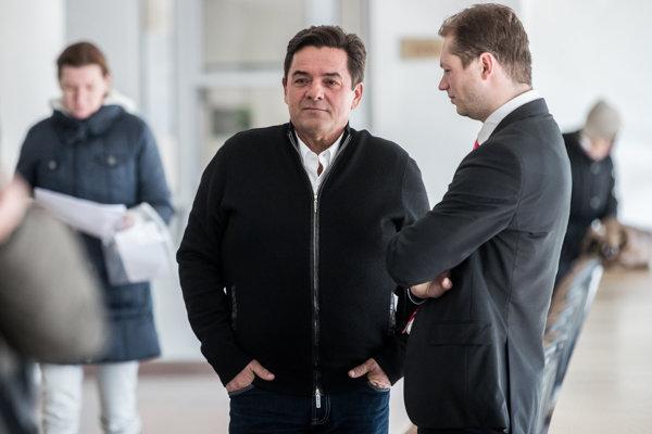 Marian Kočner a Andrej Šabík počas pojednávania v roku 2018 v spore týkajúcom sa zmeniek.