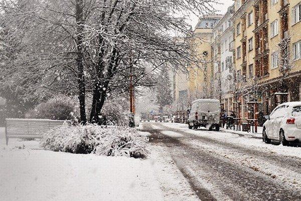 Snehová pokrývka v Žiline
