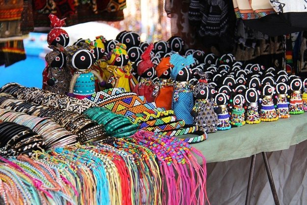 Africké umenie, trh v Kapskom meste.