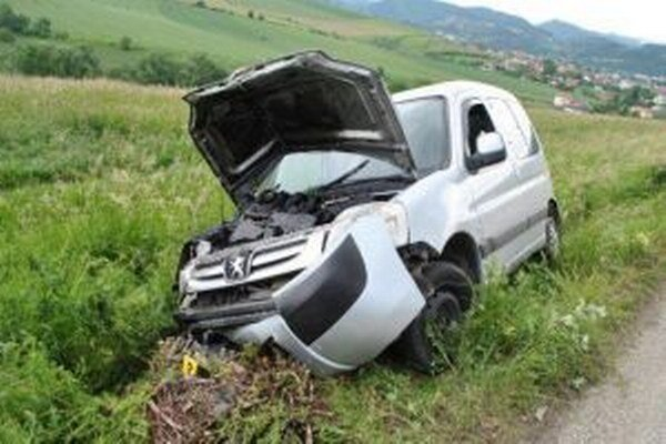 Peugeot skončil mimo cesty.