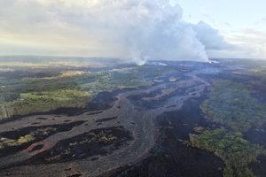 Havajský vulkán Kilauea.