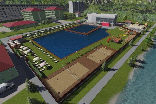 Vizualizácia nového komplexu, ktorý vyrastie na mieste bývalej plavárne.