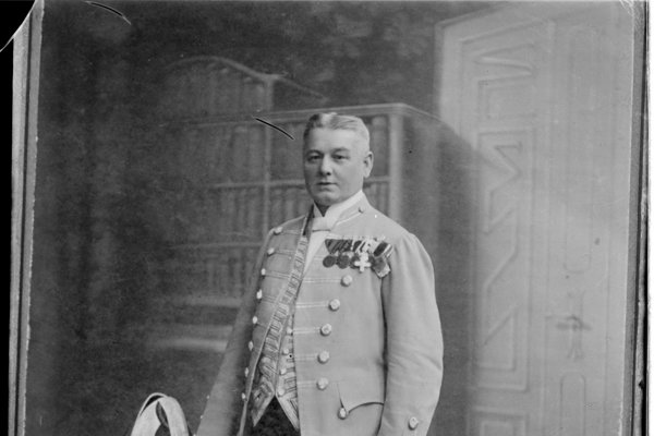 Anton Szmolen ako dvorský lokaj pred odchodom do dôchodku.