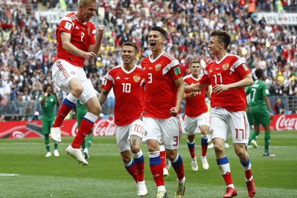Ruskí futbalisti strelili úvodný gól MS.