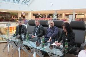 Tlačová konferencia otvorenia OC Mirage v Žiline.