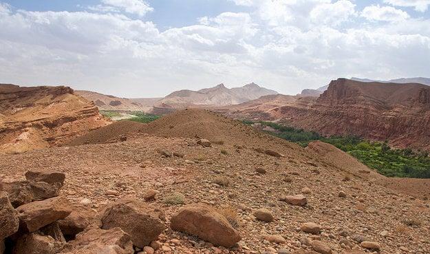 Údolie Dades, Maroko.
