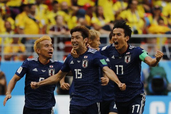 Futbalisti Japonska zdolali Kolumbiu.