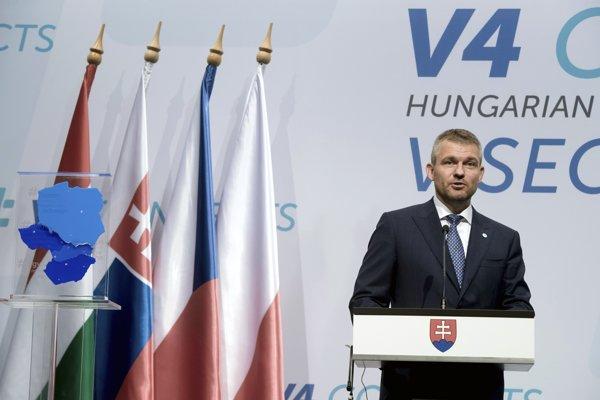 Predseda vlády SR Peter Pellegrini sa vo štvrtok zúčastnil na summite V4 v Budapešti.