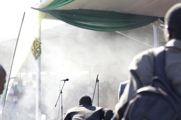 Po prejave zimbabwianskeho prezidenta otriasol štadiónom výbuch