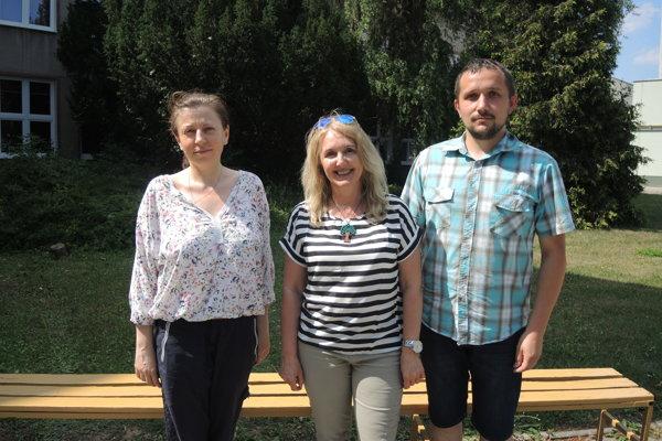Zľava Viera Čmelková, Hana Dojčanová, Michal Adamec.