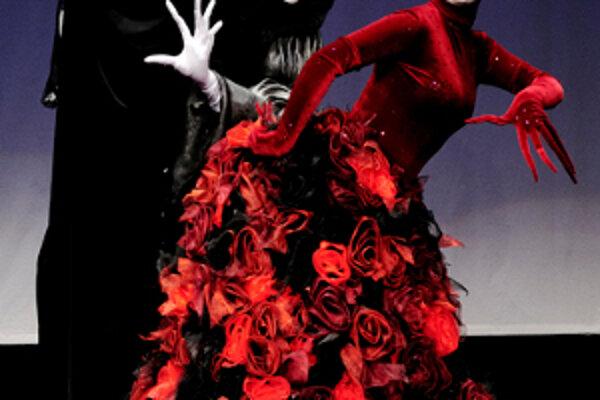 Celio a Fata Morgana z libreta Láska k trom pomarančom, ktorá vznikla v Bábkovom divadle Žilina pod režisérskou taktovkou svetoznámeho míma Milana Sládka.