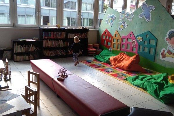 Detský kútik v krajskej knižnici.