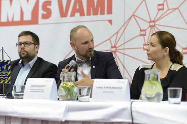 Diskusia Smart cities v Trnave. Predseda Trnavského samosprávneho kraja Jozef Viskupič.