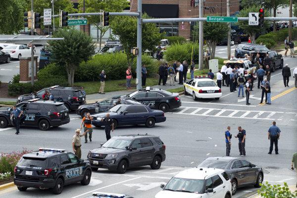Streľba v Marylande si vyžiadala niekoľko mŕtvych.
