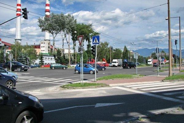 Križovatka na Košickej.