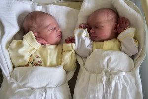 Klaudia (2700 g, 49 cm) a Lýdia (2500 g, 47 cm) Kováčikové sa narodili 28. júna Janke a Martinovi zo Starej Turej.