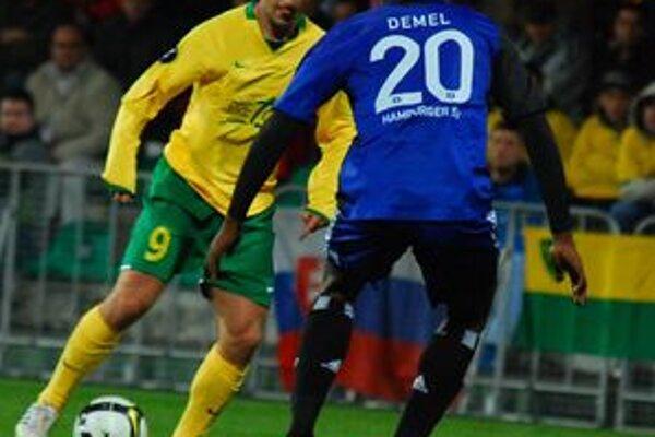 Emil Rilke dal v zápase s Hamburgerom SV jediný gól Žiliny.