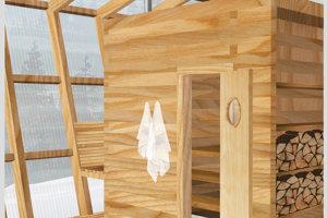 Interiér lesnej sauny