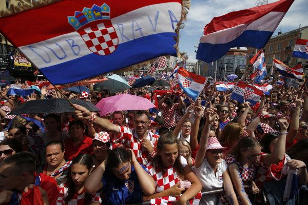 Chorvátski fanúšikovia.