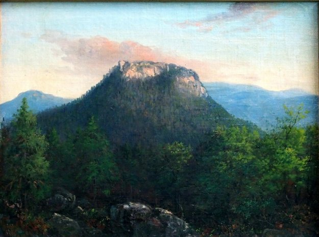 Zrúcaniny hradu Muráň. Pohľad z Hradnej lúky.