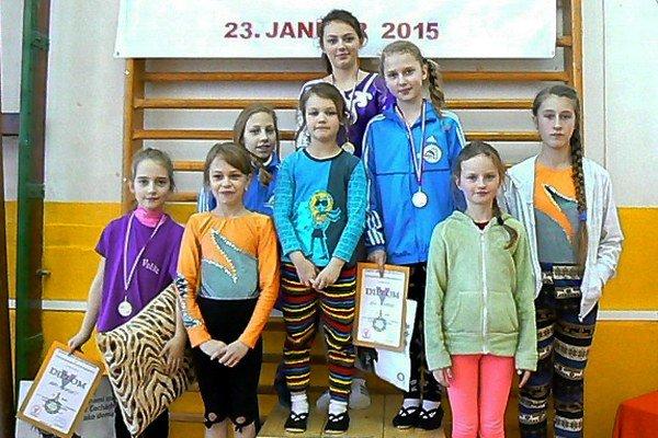Zákamenské gymnastky v Ružomberku.