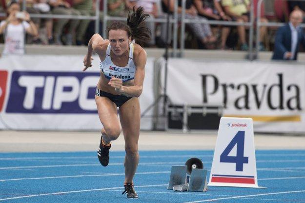 Na prvom úseku za Slovenky bežala Iveta Putalová.