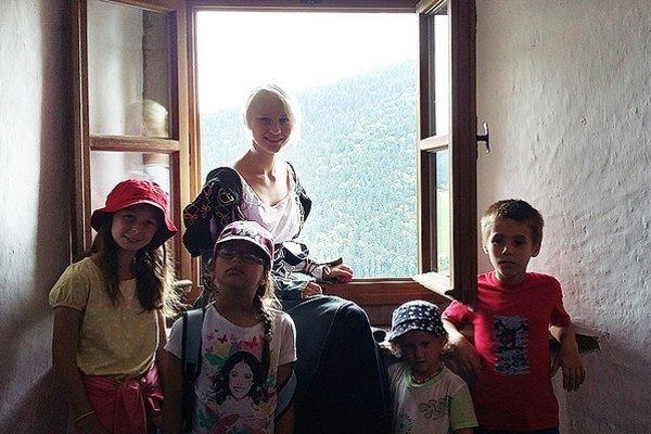 Jeden táborový deň patril návšteve Oravského hradu.
