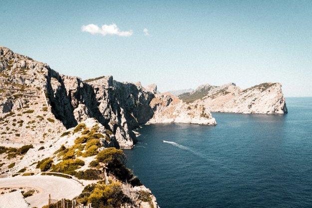 Cap de Formentor na severe ostrova