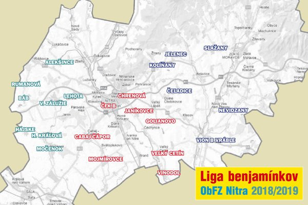 Pozrite si návrh rozdelenia klubov do skupín v Lige benjamínkov U13.