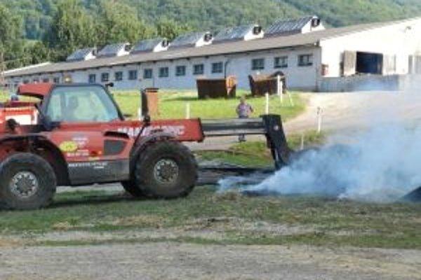 Najviac hasičov vlani zasahovalo pri požiari v Lúkach.