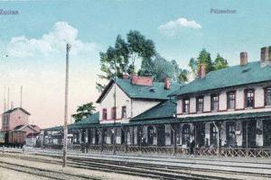Železničná stanica rok 1910.