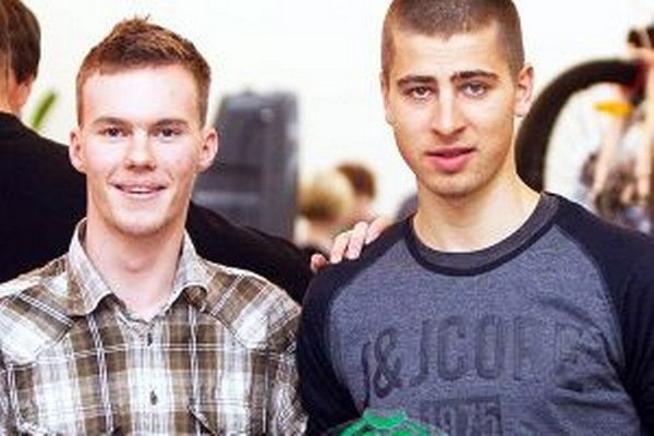 Jakub Klempai s Petrom Saganom.