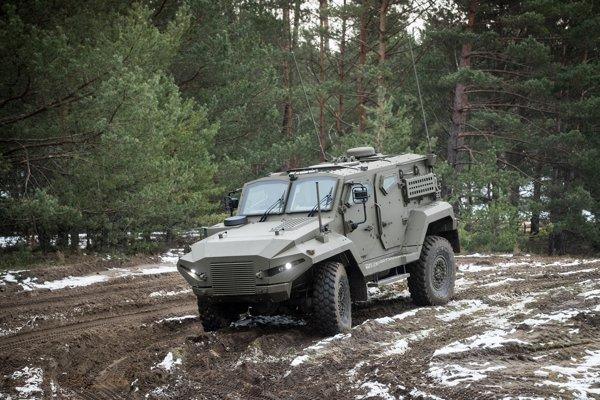Obrnené bojové vozidlo Patriot.