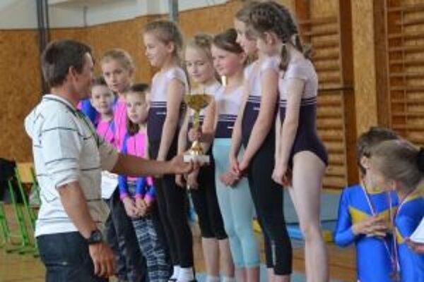 Najlepšie gymnastky oceňoval Michal Martikán.