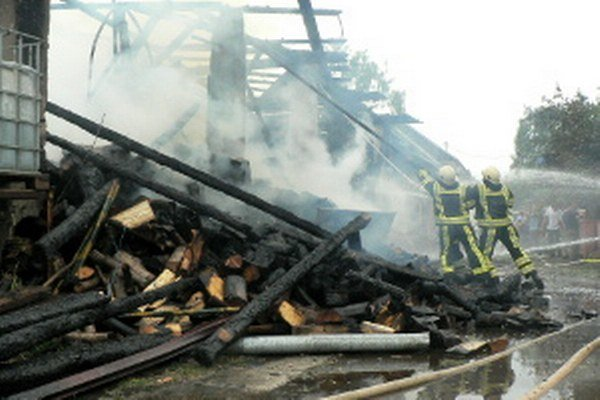 Požiar hospodárskej budovy.