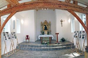 Kaplnka v Trlenskej doline po rekonštrukcii.