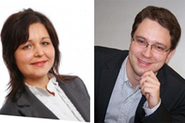 Erika Jurinová a Anton Martvoň, novozvolení zástupcovia Oravy v slovenskom parlamente.