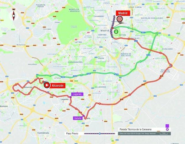 Mapa 21. etapy pretekov Vuelta 2018. (zdroj: lavuelta.es)